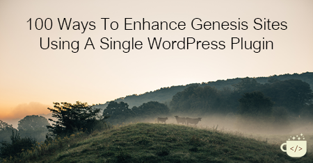 100 Ways To Enhance Your Genesis Site With One Plugin
